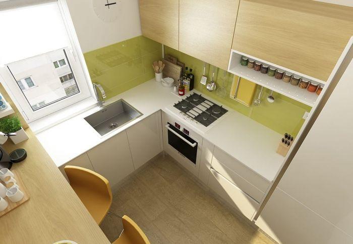Как оформить интерьер маленькой кухни