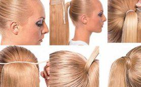 Использование хвостов из натуральных волос